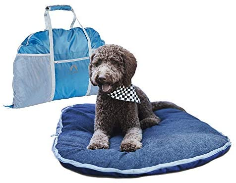 Lightspeed Outdoors Ultra-Plush Fold and Go Travel Pet Bed with Machine-Washable Cover for Travel, Car and Camping