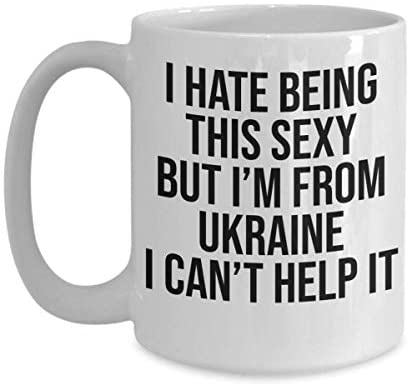 Funny Ukraine Mug - Sexy Country Mugs - White 11oz 15oz Ceramic Tea Coffee Cup - Perfect For Travel And Gifts