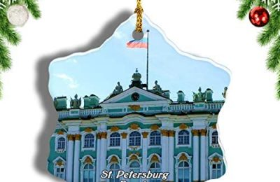 Weekino Russia The State Hermitage Museum St. Petersburg Christmas Ornament Travel Souvenir Tree Hanging Pendant Decoration Porcelain 3″ Double Sided