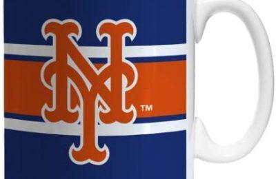 Boelter Brands MLB New York Mets Sublimated Stripe Mug, 11-Ounce