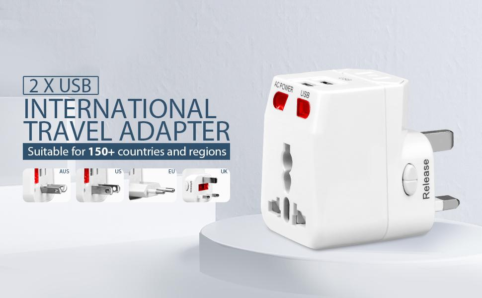 multi plug in outlet with 2 usb ports
