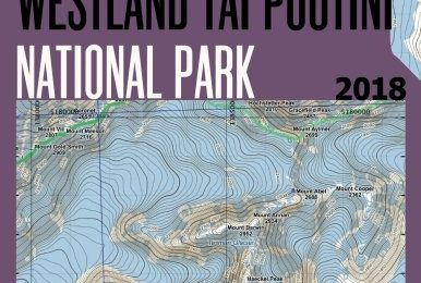 Westland Tai Poutini National Park & Aoraki/Mount Cook NP Area Map Trekking/Hiking/Walking Complete Topographic Map Atlas New Zealand South Island … (Travel Guide Hiking Maps for New Zealand)