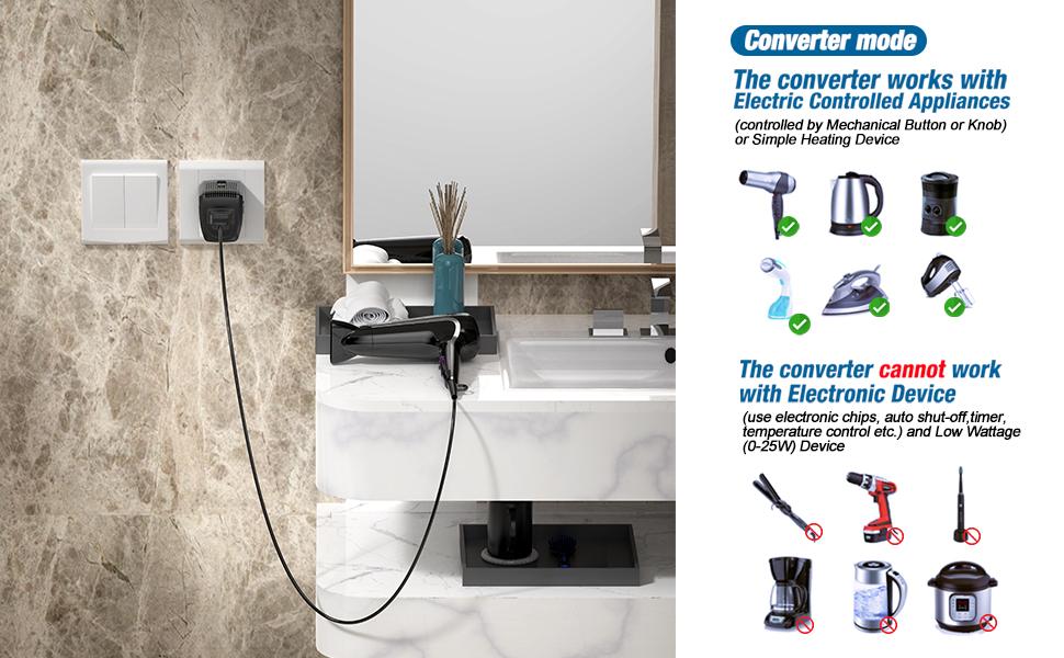 hair dryer voltage step down 2000w uk 220 110 european plug outlet transformer china plugs 220-110