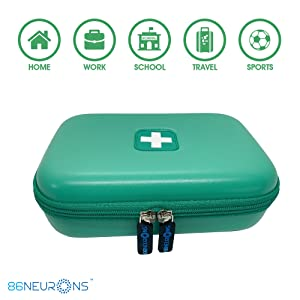 compact convenient hard case for asthma kids school bag carry case