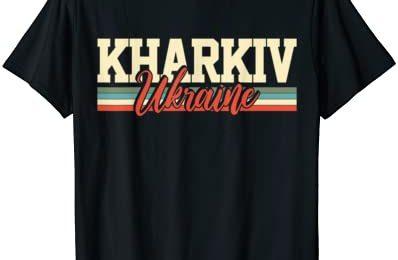 Kharkiv Ukraine Travel Souvenir Retro Gift T-Shirt