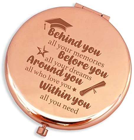 Graduation Gifts for Her 2020 High School Travel Graduation Gifts for Her,Travel Mirror Silver Rose Gold