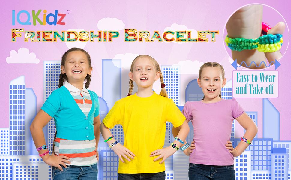 IQKidz Friendship Bracelet Kit - Clip it! Knot it! Weave now!