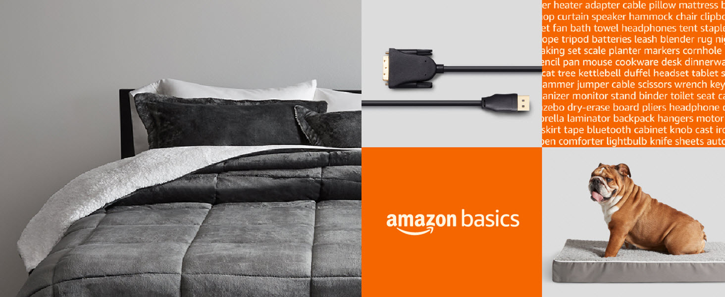 Amazon Basics products for home improvement, office, school, pets, auto, kitchen, computer and more