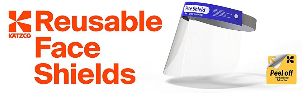 Katzco Reusable Face Shields