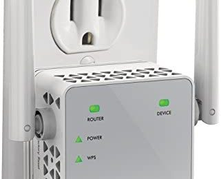 NETGEAR Wi-Fi Range Extender EX3700 – Coverage Up to 1000 Sq Ft and 15 Devices with AC750 Dual Band Wireless Signal Booster & Repeater (Up to 750Mbps Speed), and Compact Wall Plug Design