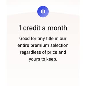 1 credit a month