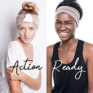 headbands comfort stretch hair headwraps headwrap head band bandeau nonslip sweat wicking non slip