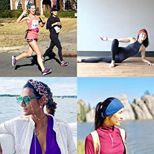 headbands cloth best stretchy top knot yoga running fashion athletic workout sports hiking active