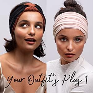 headbands women exercise sport womens women's girls comfort stretch hair headwraps headwrap