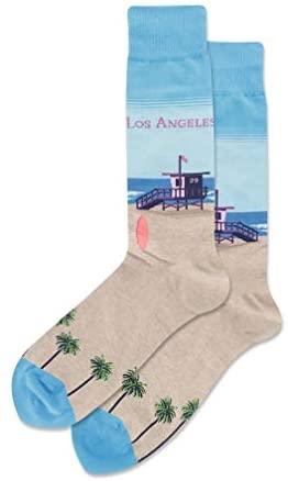 Hot Sox mens Travel Series Novelty Crew Socks