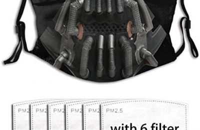 Bane Unisex Dust-Proof Face mask Washable Reusable with 6 Filters
