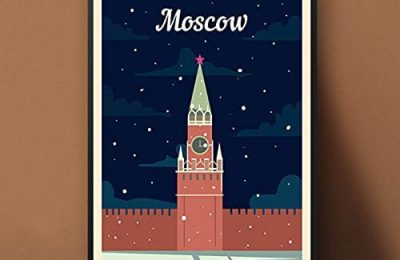 Moscow , Russia , Travel Gift Vintage Print Poster