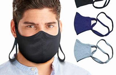 BLU HORN Face Mask Adult Large/XL(Extra Large)Jersey Cotton Face Mask with Filter Pocket-Adjustable loop