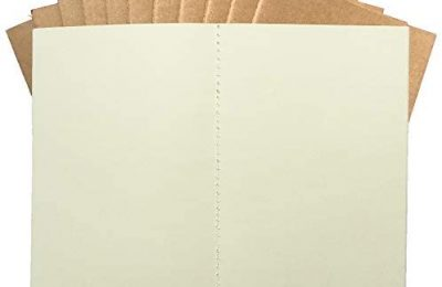 Genuine 100 GSM Traveler's Journal Refills – Blank Paper A5 Planner Inserts – Set of 12 | Unlined Plain Journal Refills for Leather Travel Journals, Writers, Diaries | 8.25 x 5.5 Inch (21cm x 14cm) A5