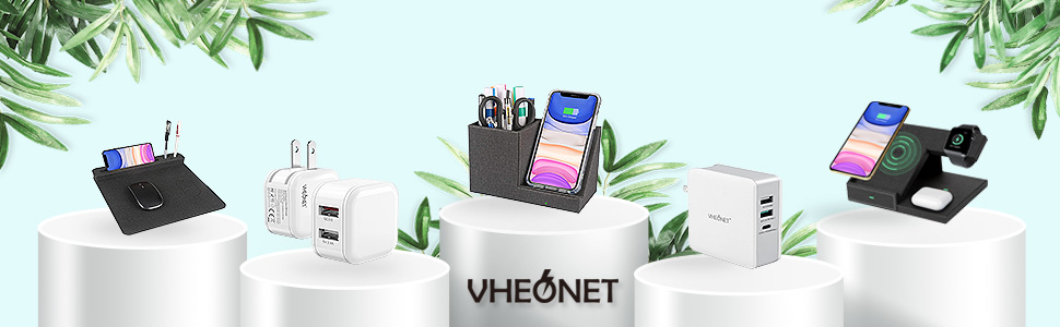 Charger Fast wireless charging phone Stand Organizer clean tidy desktop home office Durable Holder