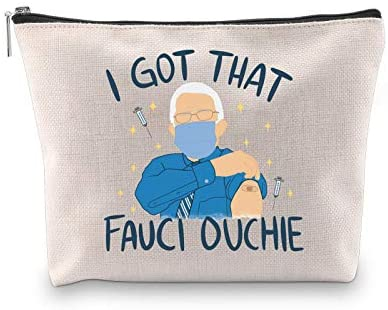 WCGXKO DR. Fauci Fans Gift I Got That Fauci Ouchie Funny Zipper Pouch Cosmetics Toiletry Bag (FAUCI OUCHIE)