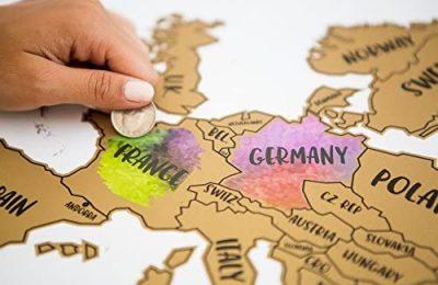 JetsetterMaps Scratch Your Travels Europe Region Map 16×20 in Poster