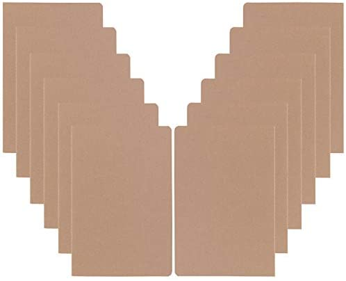 XYark 12 Pack College Ruled Notebook Journals Bulk, Lined Paper, 60 Page, 5.5x8.3 inch, A5, Travel Journal Set for Travelers, Students, Church, Office, Writing Diary Subject Notebooks Planner, Kraft