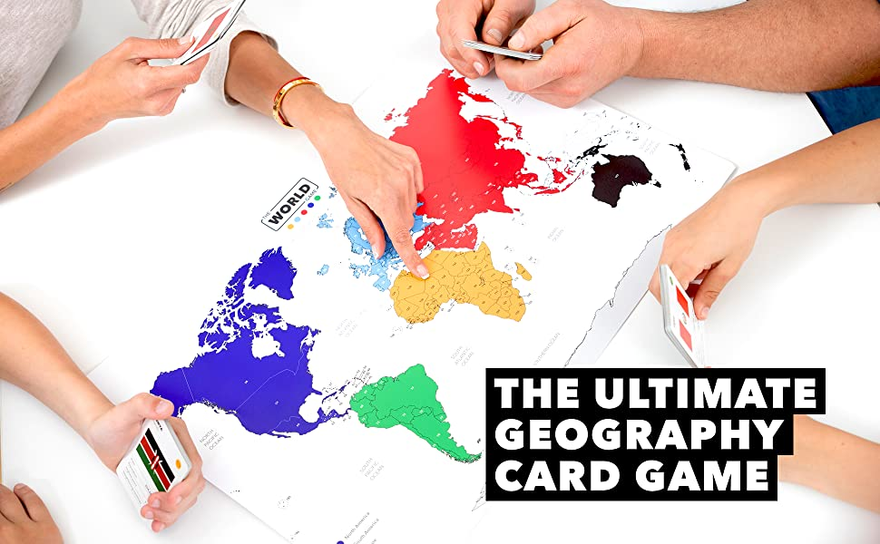 geography card game for kids families adults boys girls travel educational